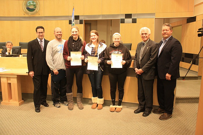 Chairman Wolfe Recognizes Suffern HS Girls Volleyball State Champions 02/03/15