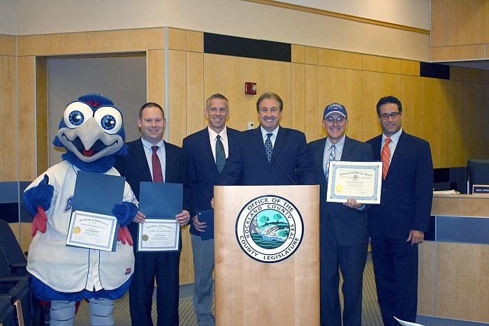 Leg. Kantrowitz congratulates Rockland Boulders as Can-Am League Champions - 09/21/14
