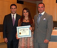 Nyack HS Senior Adriana DiSimone recognized for academic achievement & community involvement - 07/01/14
