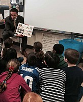 Legislator Hofstein participates in school reading program