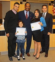 Legislator Earl Congratulates HIV/AIDS activists Juan and Yanali Ramirez - 10/07/14